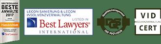 Auszeichnungen Lecon Insolvenzverwaltung und Restrukturierung