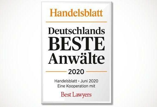 Auszeichnung von LECON als Deutschlands Beste Anwälte 2020